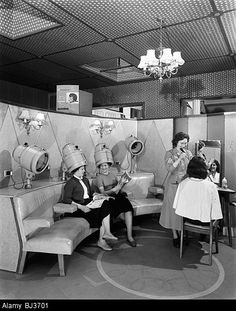 Barnsley 1960 femme chez le coiffeur