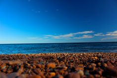 Along the Lake Superior beach in the North Shore near Two Harbors, Minnesota