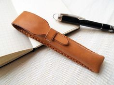 Personalized Pen Case Leather Handstitched by harlex on Etsy