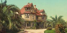 Farbe - California Home Fotoprint 60 x 30cm - ein Designerstück von T-ARTLounge bei DaWanda