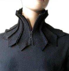 scarf shawl collar collar collar scarf wollwalk and loop Fashion Details, Diy Fashion, Ideias Fashion, Womens Fashion, Fashion Design, Upcycling Fashion, Unique Fashion, Paris Fashion, Fashion Ideas