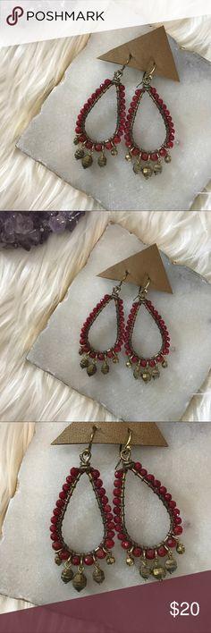 Chan Luu Red Agate Chandelier Earrings Chan Luu • nwot • red agate chandelier earrings • GV sterling silver beads Chan Luu Jewelry Earrings