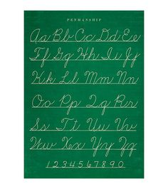 """Poster or gift wrapping paper """"Penmanship"""" by Cavallini Papers & Co via Shabby Style."""