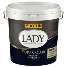Jotun Lady Pure Color i en liters spand St Pauls Blue, Jotun Lady, Hot House, Ikea Living Room, Deco Blue, Pallet Painting, Lush Garden, Painted Floors, Wonderwall