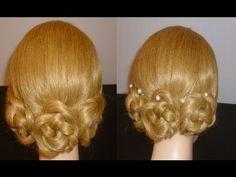 Schnelle, einfache Frisuren: Blumen.Flechtfrisur.Ausgehfrisur.Zopffrisur.FLOWER Hairstyles.Peinados - YouTube