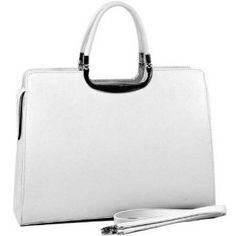 Woman Designer Briefcase Handbag Purse Bag White