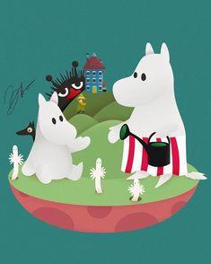 Moomin Wallpaper, Moomin Valley, Finland, Dinosaur Stuffed Animal, Iphone, Toys, Happy, Cartoons, Animals