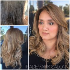 She stepped into the light side.  All work done in one visit.  #trademarksalon #oribeobsessed #oribe #goldwell #grandiose #blondedreamsdocometrue #iamgoldwell