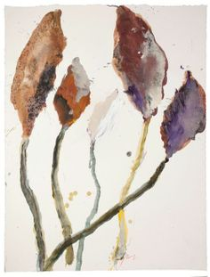 Robert Jakob, Germany, b.1937  Garden Notes, leaves of the common walnut 2010     acrylic on paper