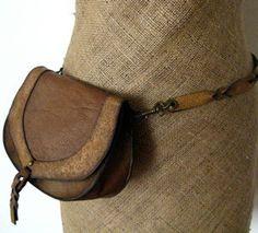 Convertible Belt Bag to Shoulder Bag in Rustic Brown