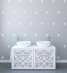 Forma moderna de la pared patrón corazón adhesivos para paredes pegatinas para…