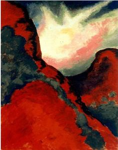 Red Landscape by Georgia O'Keefe Plains-Panhandle Museum, Canyon, Texas