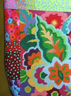 No. 612 close by jacraghead, via Flickr with Kaffe Fassett fabric