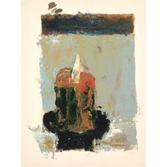 Forrest Bess, The Candle, 1958, oil on matboard, Dallas Museum of Art, The Barrett Collection, Dallas, Texas