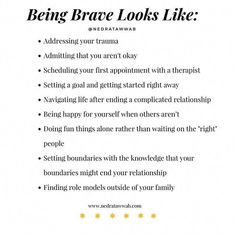 {You are braver than you think.}  Every day you make hard choices that others cannot and will not. You are practicing being… Mental And Emotional Health, Mental Health Awareness, Complicated Relationship, Relationship Advice, Strong Relationship, Meditation, Emotional Intelligence, Self Development, Leadership Development