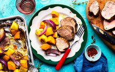 Sheet Pan Jerk Chicken With Sweet Potatoes and Pineapple | Recipe