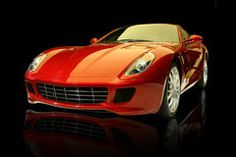 Red luxury sports car Royalty Free Stock Photos
