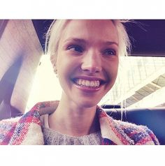8 Things We Learned From Russian Model Sasha Luss | Smiling is contagious.