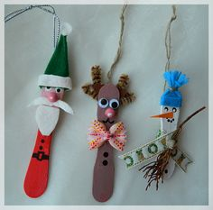 Ice cream stick ornaments! DIY