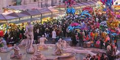 Mercatino di Natale, Piazza Navona, dal 24 novembre al 6 gennaio. L'appuntamento annuale con il mercato di Natale più grande e ricco di Roma è tornato il 24 novembre Si preannunciano passeggiate fiabesche in una delle piazze più belle della capitale, tra artigianato, giocattoli, decorazioni di Natale, cibo, musica, arte. Info: http://www.cookaround.com/yabbse1/showthread.php?t=273322