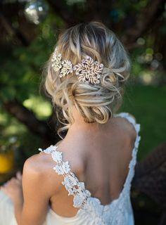 Boho Gold Halo Hair Wrap Grecian Gold Hair by LottieDaDesigns
