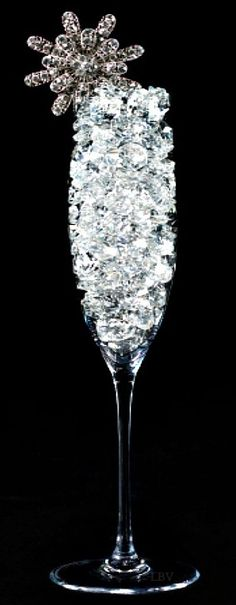 Frivolous Fabulous A diamond encrusted champagne glass. Bling Bling, Sparkles Glitter, Glitz And Glam, Fashion Moda, Schmuck Design, Diamond Are A Girls Best Friend, Flute, Black Silver, Black White