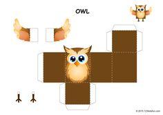 Free Halloween Papercraft - Owl - printables for kids #halloween #craft #forkids