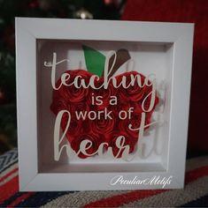 Teacher Shadow Box - Cute Custom Teacher Gift - Personalized frame - Cute teacher appreciation gift - Teacher Thank You Gift & 18 Best Personalized thank you gifts images | Packaging Christmas ...