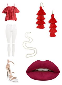 """""""Red 4 life ❤️"""" by avalentin2004 ❤ liked on Polyvore featuring Anna October, Topshop, BaubleBar and Huda Beauty"""