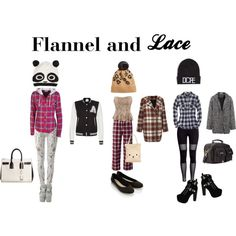 """""""Flannel and Lace"""" by telley-m-jay on Polyvore"""