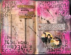 France Papillon art journal page with video