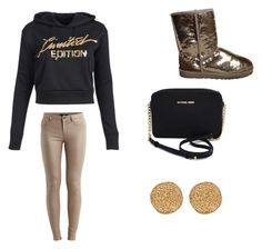 """""""Untitled #30"""" by lovelymayaaa ❤ liked on Polyvore featuring VILA, UGG Australia, Michael Kors and Karen Kane"""