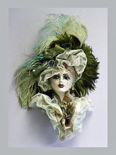 It was made by Unique Creations of San Francisco. Paper Face Mask, Face Masks, Diy Photo Booth Props, African Pottery, Woman Face, Lady Face, Masks Art, Clay Masks, Carnival Masks