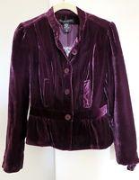 New NWOT New York & Company Purple Velvet Blazer MSRP $69 - Size 2 Hot Trend