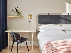 Steal This Look: A Scandi Bedroom in a SoHo Hotel: Remodelista