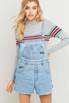 Shop Urban Renewal Vintage Customised Light Blue Denim Shorts Dungarees at Urban Outfitters today. Short Outfits, Cute Outfits, Jeans, Denim Shorts, Vintage Outfits, Urban Renewal, Urban Dresses, Street Outfit, Playsuits