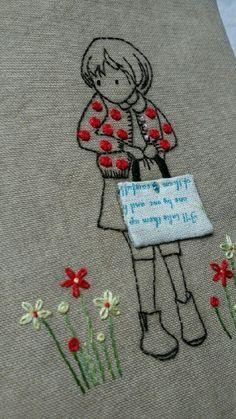 요즘은 뭐가그리 바쁜지.. 포스팅할 시간조차 쉽지않다. 시간이 없어서는 핑계이고... 사진찍고 글쓰고... ... Embroidered Quilts, Crewel Embroidery, Machine Embroidery, Embroidery Designs, Embroidery Patterns, Portrait Embroidery, Heirloom Sewing, Chicken Scratch Embroidery, Cross Stitching