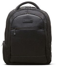 Kenneth Cole Pebbled Faux Leather Trim Backpack