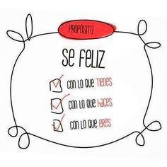 Una lista de propósitos para ser feliz... #happy