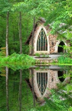"""Callaway Gardens Chapel, Georgia. """"the place my fiancé and I will renew our vows on our anniversary.so beautiful it feels like it's from a fairy tale,and Georgia is where he was born.""""-Jess"""