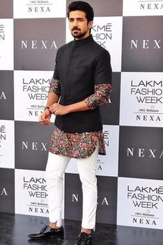 Shop Varun Bahl - Men Printed Kurta With Jacket & Trouser , Exclusive Indian Designer Latest Collections Available at Aza Fashions India Fashion Men, Indian Men Fashion, Mens Fashion Wear, Look Fashion, Wedding Kurta For Men, Wedding Dresses Men Indian, Wedding Dress Men, Mens Indian Wear, Mens Ethnic Wear