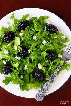 Top 10 Clean Eating Recipes blackberry arugula salad with citrue vinaigrette