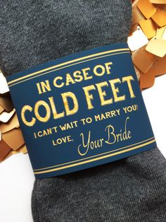 In Case of Cold Feet Socks Label- Navy Gold Brides Gift to Groom autumn wedding colors / wedding in fall / fall wedding color ideas / fall wedding party / april wedding ideas Wedding Goals, Wedding Tips, Fall Wedding, Our Wedding, Dream Wedding, Wedding Themes, Wedding Decorations, Wedding Stuff, Wedding Ceremony
