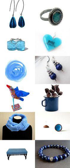B L U E is my favorite color ~~~ by Hana Kukol on Etsy--Pinned with TreasuryPin.com