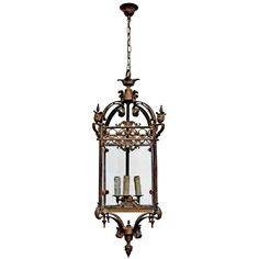 Riems Lantern 105cm (1 639 AUD) ❤ liked on Polyvore featuring home, home decor, ceiling lights, european home decor, paris france home decor, parisian home decor and paris home decor