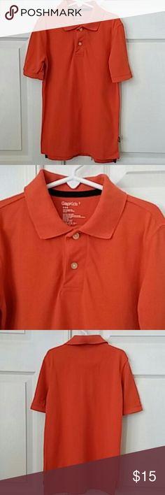 👫GAP Kids pique polo shirt GAP Kids pique polo shirt. Orange color. 100% cotton. Size Youth S. Excellent condition. Gap Kids Shirts & Tops Polos