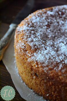 Κέικ με Καρύδα Greek Sweets, Greek Desserts, Greek Recipes, Cooking Cake, Cooking Recipes, Greek Cooking, Brownie Cake, English Food, Pastry Cake