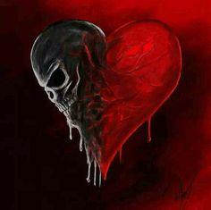 Dark side of my heart by Blackidus on DeviantArt Skull Wallpaper, Heart Wallpaper, Dark Fantasy Art, Arte Emo, Totenkopf Tattoos, Skull Pictures, Skull Artwork, Arte Obscura, Skulls And Roses