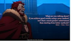 Anime Quote: Fate/Zero