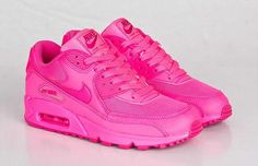 Nike Air Max 90 GS Hyper Pink Running Womens Trainers UK [Nike TrainersWMS03] - £50.99 : www.cheapnikeseller.co.uk